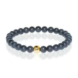 50% OFF All Jewellery - Growth | Gold Essence Matte Black Bracelet