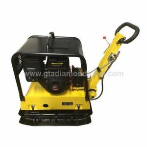 Plate Compactor Compaction Soil Gravel Dirt Compactor Tamper plate, Electric Start / Brand new Reversible 550lb