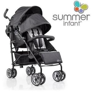 USED SUMMER INFANT 3D TWO STROLLER 32183 209697903 BABY INFANT CHILD TODDLER BLACK
