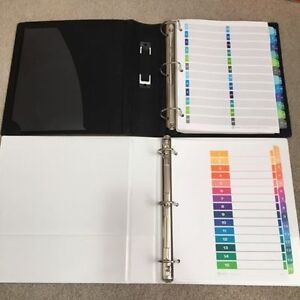2 BRAND NEW large binders with dividers