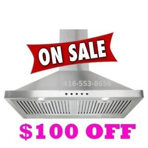 Wall mount Kitchen Exhaust fan Range hood on sale for $299