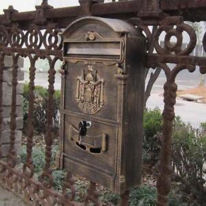 Cast Aluminum Mailboxes 32 Colors Available (02 Antique Bronze)