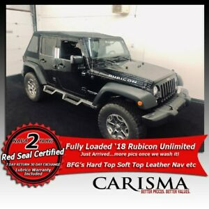 '18 Jeep Wrangler Unlimited Rubicon~Hard/SoftTop, Wtty, Lift,BFG