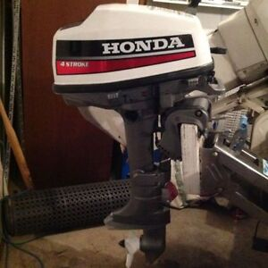 Honda 5 HP 4 stroke outboard for sale in great condition