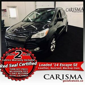 Exceptional~ '14 Escape SE Turbo AWD~ NAV, Cam, Sunroof, Leather