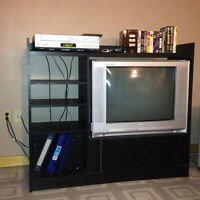 FOR SALE: Entertainment Unit with TV and VCR/DVD Combo