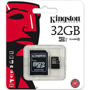MICROSD CARD 32GB CLASS 10 UHS1 KINGSTON BRAND NEW