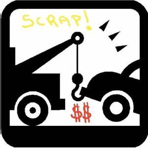 Achat de vehicule pour recyclage300 a 500$