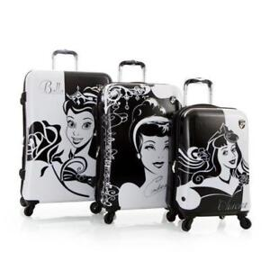 New Disney Hardside Princess Expandable Spinner 3 PCS Luggage Se
