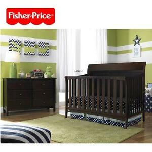 NEW FISHER PRICE CONVERTIBLE CRIB 12550103 189580742 Georgetown Espresso