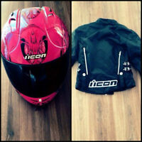 Woman's icon helmet and jacket