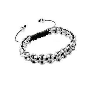 50% OFF All Jewellery - Silver Kismet Links | Black | MiniBracelet