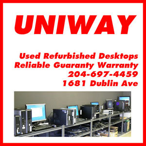 UNIWAY WINNIPEG REFURBISHED COMPUTER DESKTOPS STARTING FROM $99