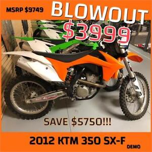 2012 KTM SX-F 350 - SAVE OVER $5000!!!