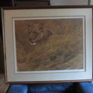 Lioness In The Grass Limited Print Signed By Robert Bateman Kitchener / Waterloo Kitchener Area image 2