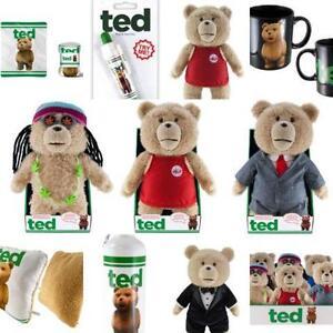 """Talking Ted Bear 8"""" 16"""" 24"""" Inch Pen Blanket Water Bottle All Ex"""