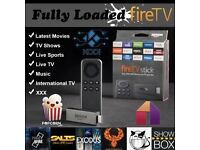 Amazon Firestick Fully Loaded. Kodi 16.1 Spmc. Movies Sports Tv shows Mobdro Showbox etc