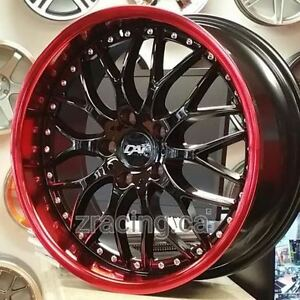 18 in Rims Black RED Lip(4New Rims $850 Tax in) 9056732828