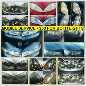 Headlight Restoration - Mobile Service (Done Once, Done Right!)