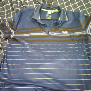 Like new Hugo Boss Green label blue stripes polo LARGE