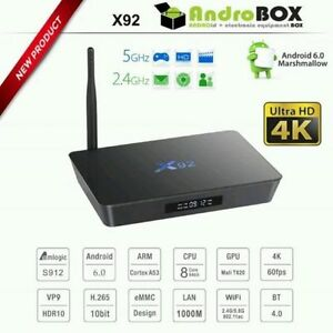X92 - 2GB Ram, Kodi/XBMC 17.1 Android Media Box