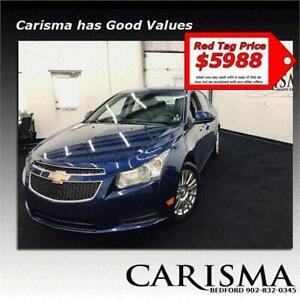 Financing Available~'12 Chevy Cruze Turbo~Alloys A/C & More