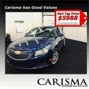 Red Tag $5988~'12 Chevy Cruze Turbo~Alloys A/C & More