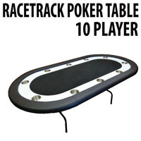 Texas Holdem Poker Table with Racetrack Black BRAND NEW