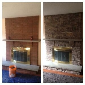 FIREPLACE MAKEOVER - THE ONE DAY DESIGN MIRACLE !