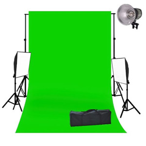 TubeTape Green Screen & 2 Continuous Lighting Stands