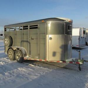 2017 Calico 16 Ft HD Stock Combo Trailer w. Mats, Spare & Slider