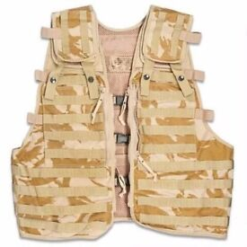Tactical Vest New British Army Desert DPM Military Camouflage Combat Assault Molle Security Fishing