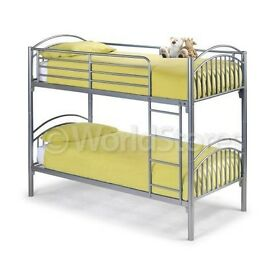 * Free / Fast DELIVERY * Orignal SOLID METAL BUBK BED WITH COMFY MATTRESS+30 DAY CASH BACK GUARANTY