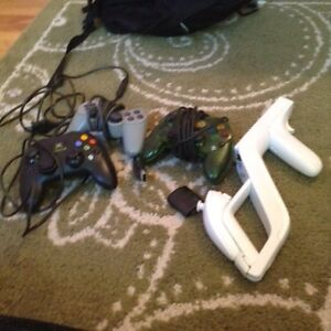 Xbox wii and ps2 controllers