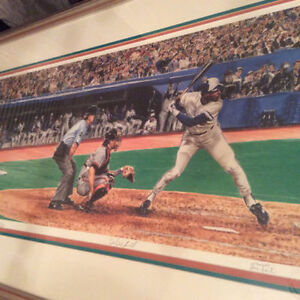 "(framed) Toronto Blue Jays ""The Power and the Glory"" by Les Tait"
