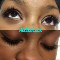 $99 Full Set Eyelash extensions by certified Misencil technician