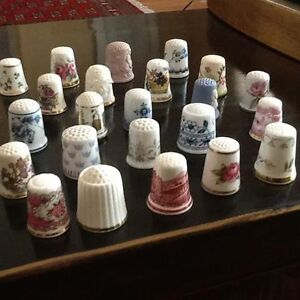 Franklin Mint Thimbles of the World's Greatest Porcelain Houses