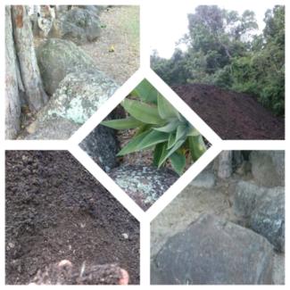 $700 Mushroom   soil 20 sq3 / bush rocks