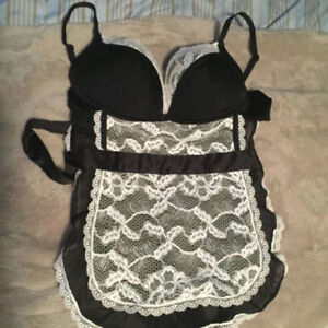 NEW SEXY MAID OUTFIT WITH UNDERWIRE SIZE LG