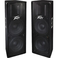 """JUST REDUCED! - PV 215 Speakers - Dual 15"""" 2 Way Cabinets"""