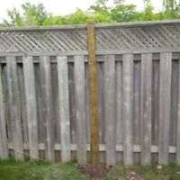 FENCE POST REPLACEMENT