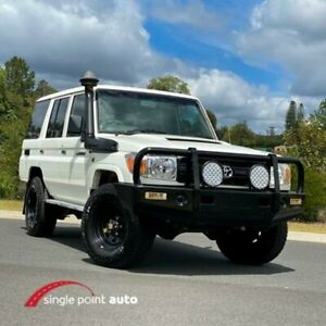 2007 Toyota Landcruiser VDJ76R Workmate White 5 Speed Manual Wagon Chevallum Maroochydore Area Preview