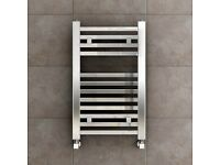 Chrome Cloakroom sqaure towel radiator 650 x 400mm