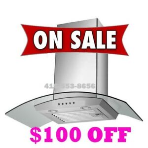 600CFM Chimney Wall Mount Range Hood Kitchen Exhaust Fan