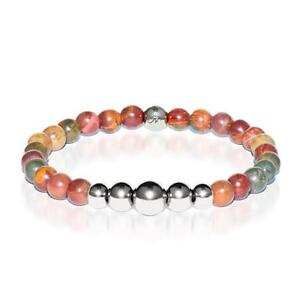 50% OFF All Jewellery - Selfless | Silver Aura Red Picasso Jasper Bracelet