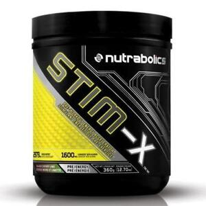Nutrabolics STIM-X, 60 Servings - HARDCORE PRE-WORKOUT