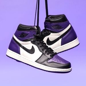 Pre order Jordan 1 pine green court purple