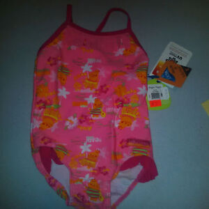 Brand New Pink Hippo Swimsuit - 2T