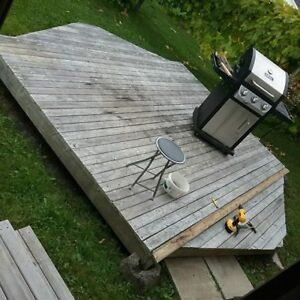 Custom Deck for Large Screen Tent
