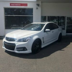2014 Holden Commodore VF MY14 SS V Redline White 6 Speed Manual Sedan